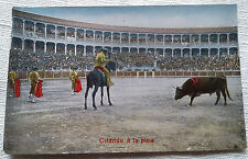 Citando a la Pica Postcard Bull Fighting Spain 1920s Arena VTG