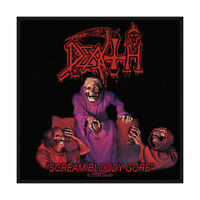DEATH SCREAM BLOODY GORE OFFICIAL LICENSED SEW ON PATCH METAL BAND BADGE NEW