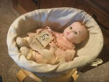 """Vtg 1981 Porcelain Original Gerber Baby in Basket. 14"""". See Photos."""