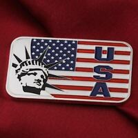 1 Troy oz  .999 Fine Silver Bar  / The flag and the Statue of Liberty    F2SB1H4