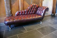 Lounge Club Chesterfield Sofa Liege 2 Sitzer Polster Liegen Chaiselongues Leder