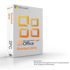 MS Microsoft Office 2010 Standard 2PC Original 64/32-Bit - Vollversion