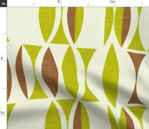 Vintage Green Brown Earth Abstract Plain Herb Spoonflower Fabric by the Yard