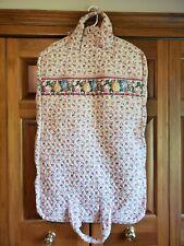 Vintage Vera Bradley PASTEL PINK Garment Bag Traveling Suitcase Luggage Retired