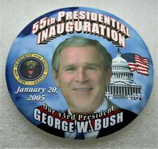 New listing George W Bush 2005 Presidential Inauguration Political Pin Button New Nos