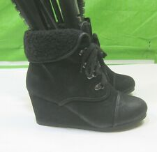 NEW Ladies Rusty black  2.5 Wedge heel Sexy Ankle Booties   US WOMEN  Size 6