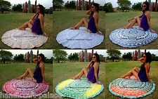 10 Pcs Wholesale Lot Indian Mandala Round Roundie Beach Throw Mandala Tapestry
