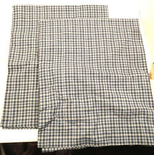 "Blue Plaid Indian 100% Cotton Bedroom Pillow Shams Covers 21"" x 27"" Standard"