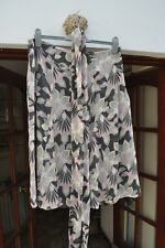 Autograph abstract floral print chiffon skirt - size 14 - very pretty