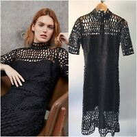 COUNTRY ROAD [CR LOVE] NEW! [SZ 8,10,12,14] LACE A-LINE DRESS IN BLACK XS,S,M,L