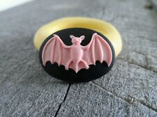 Spooky Vampire Bat cameo SILICONE push mold mould polymer clay resin sugar