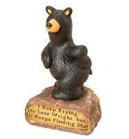 Bearfoots Weight Finds Me Figurine by Big Sky Carvers # B5080036