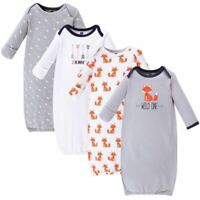 Hudson Baby Cotton Gowns, Wild One, 4-Pack, 0-6 Months