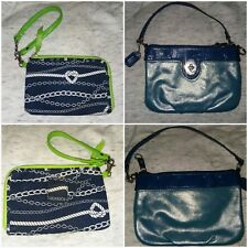 Coach & Thirty ONE Wristlets Blue Nautical Wallet
