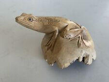 Chinaberry Wood Tree Root - Parasitic Wooden Statue - Frog