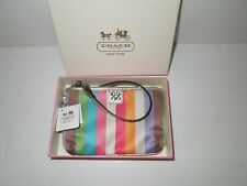 NIB Coach Julia Legacy Stripe Small Wristlet 47510B
