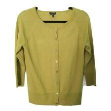 Talbots Size M 100% Merino Wool Green Buttoned cardigan