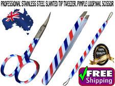 PROFESSIONAL STAINLESS STEEL SLANTED TIP TWEEZER, PIMPLE LOOP, NAIL SCISSOR SET