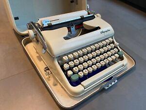 Schreibmaschine Olympia Monica mechanisch, im Reisekoffer - Top Zustand