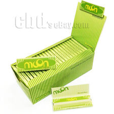 """Moon 50 booklets 70*36mm 1.0"""" Pure Hemp Cigarette Rolling Papers all 2500 leaves"""