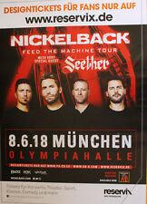 Nickelback - Tourposter/Tourplakat 2018 - Olympiahalle München
