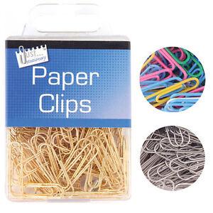 Paper Clips Box Multi-Coloured Gold Silver 100pcs