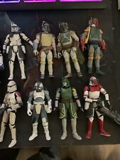 Star Wars Black Series 3.75 Loose Lot (8) Rex Doom Wolff, Thorn, Neyo, Boba Fett