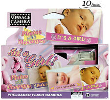 10x It's A Girl ! Disposable Single Use Preloaded Film Message Camera Exp:7/2014