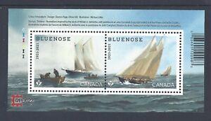 2021 Bluenose (1921-2021)  Overprinted CAPEX 22. Souvenir Sheet MNH