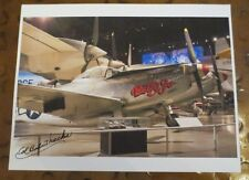 Col Robert Thacker test pilot Betty Jo P82 Twin Mustang signed autographed photo