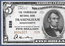 MA 1929 $5 TYPE-2 ♚♚FRAMINGHAM,MASSACHUSETTS♚♚  PCGS EXTREMELY FINE 40