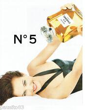 PUBLICITE ADVERTISING 125  1996  CHANEL  parfum n°5  avec CAROLE BOUQUET