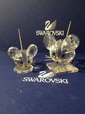 Swarovski Figurine 2 Mouse / Large & Small (((Top Condition)))