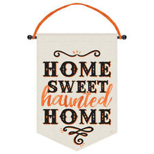 HALLOWEEN Home Sweet Haunted Home CANVAS SIGN ~ Birthday Party Supplies Decor