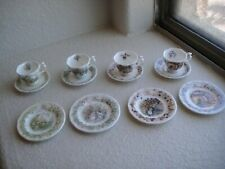 Royal Doulton Brambly Hedge 4 Seasons Miniature Plates and Teacups Set