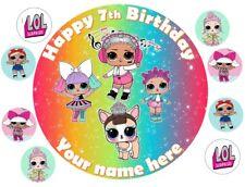 """Lol sorpresa muñecas 7.5"""" Redondo Edible Cake Topper Decoración + 8 Cupcake Toppers"""