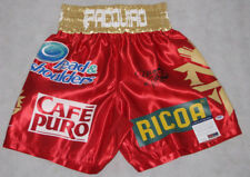 MANNY PACQUIAO PAC MAN  Hand Signed Boxing Trunks Shorts + PSA DNA COA