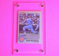 1983 Fleer Ryne Sandberg Chicago Cubs #507 Baseball Rookie Card HOF RC (mint OC)