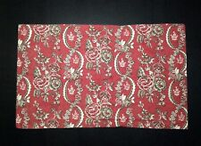Ralph Lauren King Pillow Sham Red Tan Black Floral Scroll Decorative Bedding
