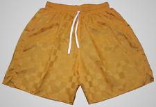 Gold Checker Nylon Soccer Shorts by Augusta - Men's Large *NEW*