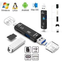 5 in 1 USB 3.0 Type C / USB / Micro USB SD TF Memory Card Reader OTG Adapter