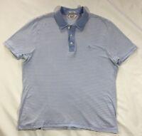 EUC Men's Penguin Blue Striped Knit Classic Fit Polo Shirt-size L