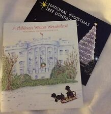 PRES OBAMA 2014 CHRISTMAS HOLIDAY TOUR WHITE HOUSE BOOK & TREE LIGHTNING (2) TTL