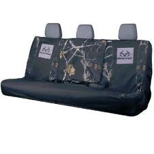 Realtree Black Camo Bench Seat Cover, Universal Full Size Auto Car Truck