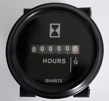 Hour Meter 120 Volts AC, Round  Black Trim Ring PROG7473