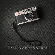 Deadcameras Leather Loop Wrist Strap Leica CM, Minilux, Contax T2, T3, Ricoh GR1