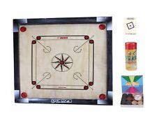 "Carrom Board Game Coins Striker Boric Powder Pro Board in Carrom Book Set 26x26"""