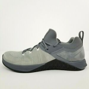 Nike Metcon Flyknit 3 Training Cool Grey Black AQ8022-002 Men's Size 11 No Lid