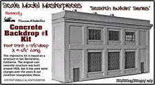 Concrete Backdrop Kit #1 Scale Model Masterpieces/YORKE Ent HOn3 Fine Craftsman