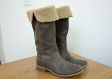 TIMBERLAND WOMEN LEATHER BOOTS WARM SIZE 8.5 BROWN